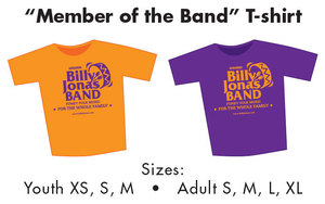 T-Shirt ldquoBilly Jonas Band Memberrdquo