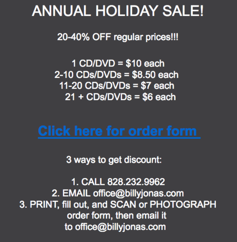 New CD  Holiday Sale 20-40 off
