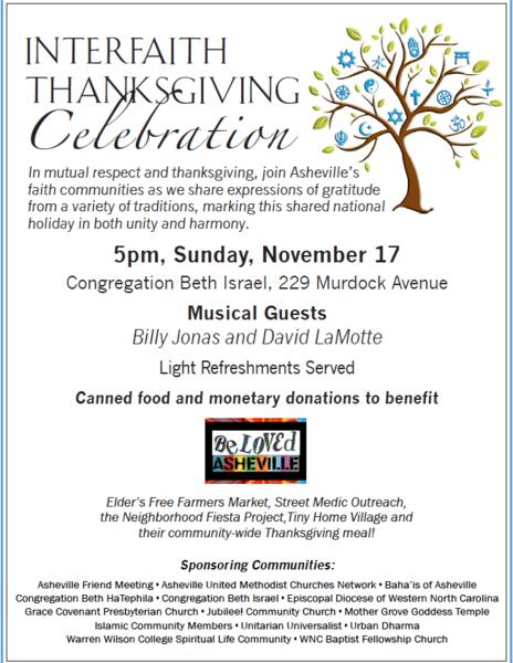 Interfaith Thanksgiving Celebration with Billy Jonas amp David LaMotte