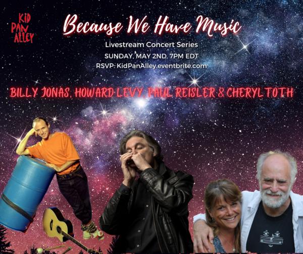 A fun FAMILY Concert w Billy Jonas Howard Levy Paul Reisler amp Cheryl Toth